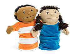Second Step Early Learning Boy and Girl Puppet Set