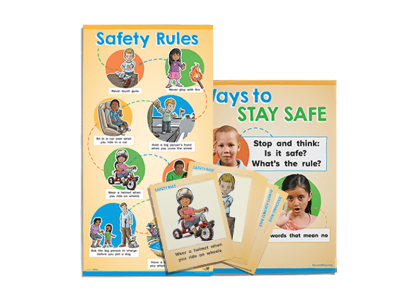 child protection unit early learning poster and card pack
